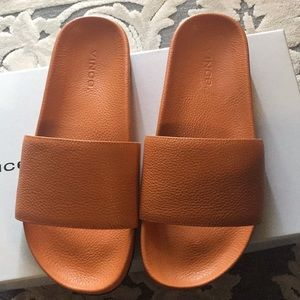 New in box! Vince leather slipper size 35